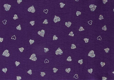 Fanci Felt 9'' x 12'' Craft Cut Twinkle Heart Orchid