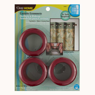 "Curtain Grommets 1 9/16"" Red"