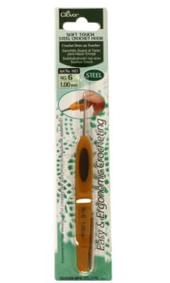 Clover Soft Touch Steel Crochet Hooks Size 6 (1.00mm)