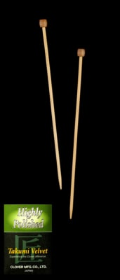 Clover Takumi Velvet Knitting Needles Single Pt. 13''- US 6 (4mm)