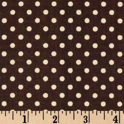 Premier Prints Dottie Chocolate/Natural