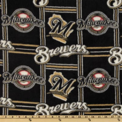 MLB Fleece Milwaukee Brewers Blocks Black