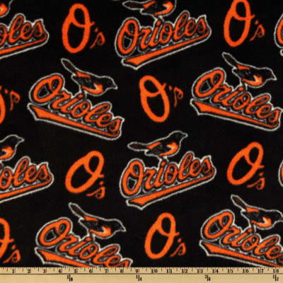 MLB Fleece Baltimore Orioles Allover Orange/Black