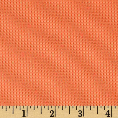 Stretch Medium Weight Polyester Pique Knit Orange