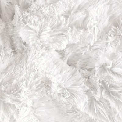 Shannon Minky Luxe Cuddle Shaggy White