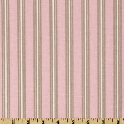 Premier Prints Trey Stripe Twill Bella Pink/Cozy
