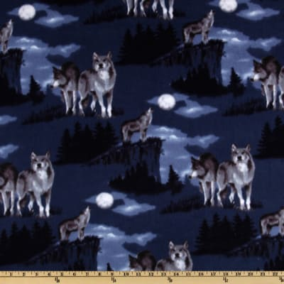 WinterFleece Baying At The Moon Blue