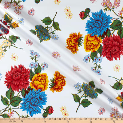 Oilcloth Mums White