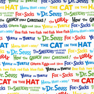 Celebrate Seuss! Book Titles White