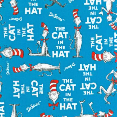 Shannon The Cat In The Hat Minky Cuddle Cat Walk Azure