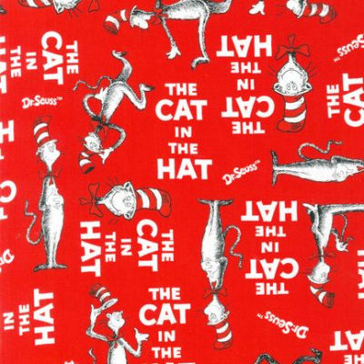 The Cat In The Hat Book Cover Red