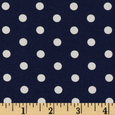 Pimatex Basics Polka Dots Navy