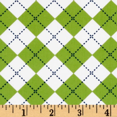 Remix Argyle Lime/White/Blue