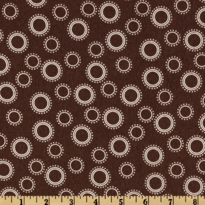 Cozy Cotton Flannel Circles & Dots Cocoa