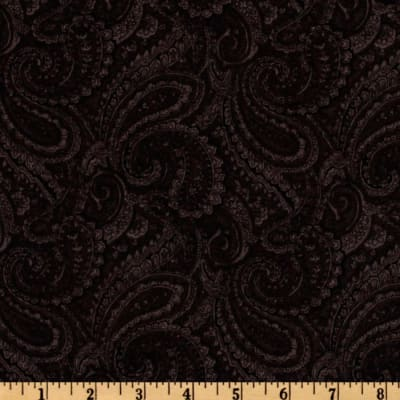 108'' Complementary Quilt Backing Paisley Black