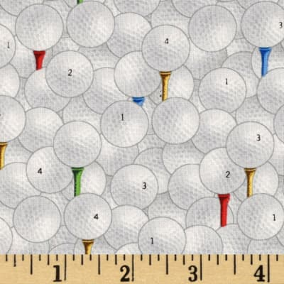 Sports Collection Golf Balls Allover White