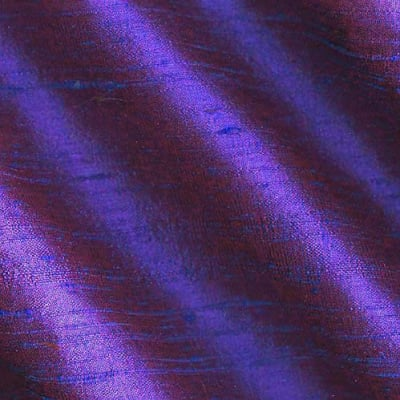Dupioni Silk Fabric Iridescent Plum