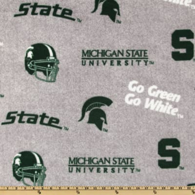 Collegiate Fleece Michigan State All Over Heather Grey