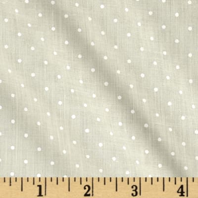 Cotton Poly Broadcloth Yellow/White Dots