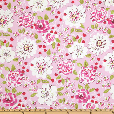 Tea Garden Cotton Sateen Home Floral Décor Ying Ming Pink