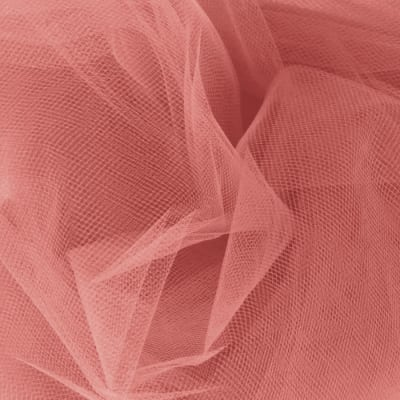 108'' Wide Nylon Tulle Coral