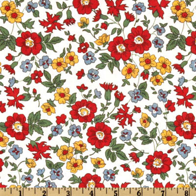 108'' Aunt Grace's Garden Party Quilt Backing Floral Red/Yellow
