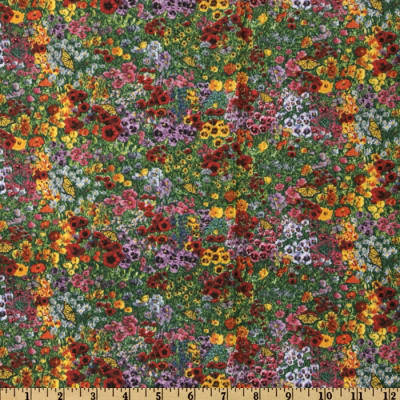 Country Quilts Floral Yellow/Red/Green