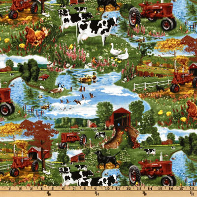 Farmall International Harvester Autumn Farm Scenic Green