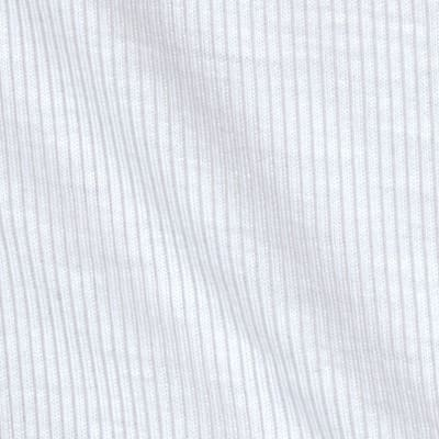 Stretch Hemp Rayon 2 x 1 Rib Knit Optic White