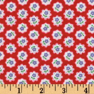 Flower Sugar Mini Floral Red