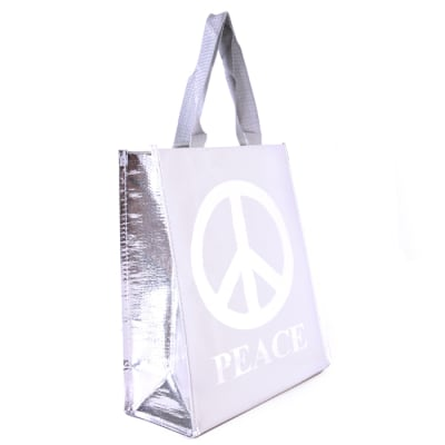 Insta-Totes Lunch Tote Peace Silver