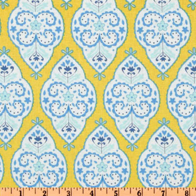 Dena Designs Sunshine Linen Blend Medallion Yellow