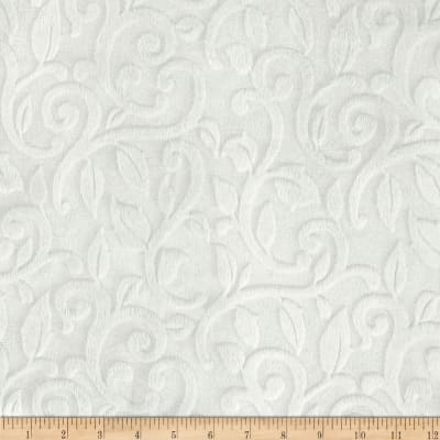 Shannon Minky Embossed Vine Cuddle White
