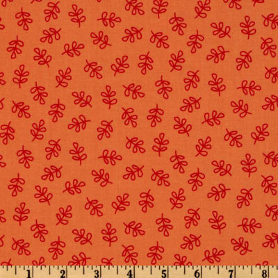 Michael Miller Nordic Holiday Holly Folly Orange