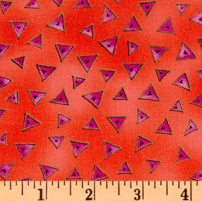 Laurel Burch Basics Triangle Red