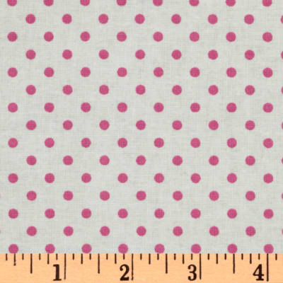 Crazy for Dots & Stripes Dottie White/Pink