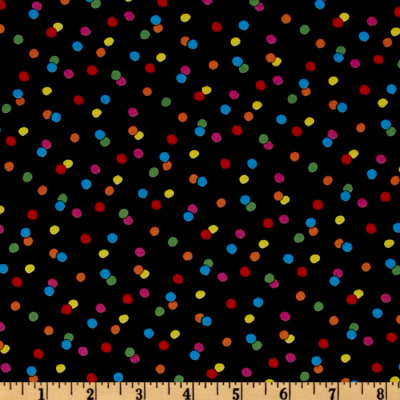 QT Fabrics Happiness Is…Peanuts Dots Black