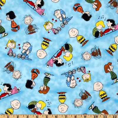 QT Fabrics Happiness Is…Peanuts Characters Blue