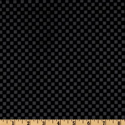 Bijoux Faux Leather Checks Black