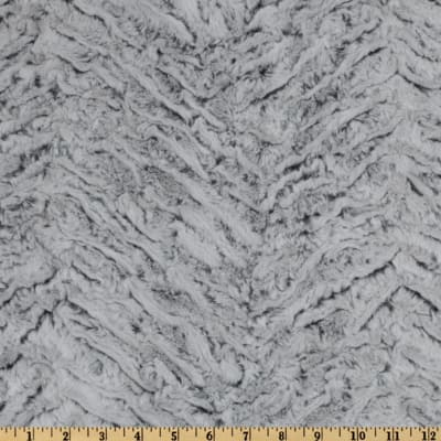 Shannon Minky Luxe Cuddle Frosted Zebra Gray
