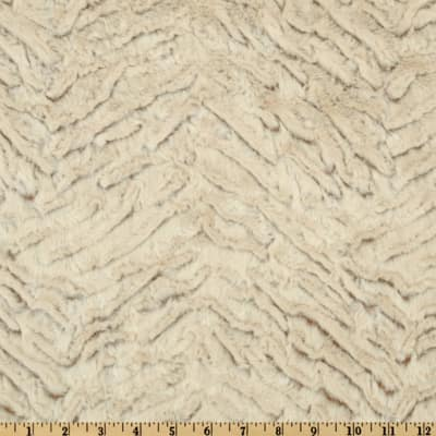 Shannon Minky Luxe Cuddle Frosted Zebra Camel