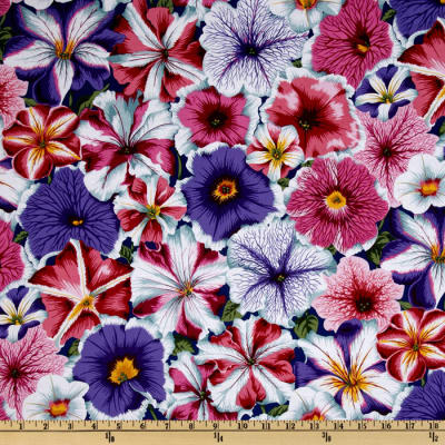 Kaffe Fassett Collective 2012 Petunias Purple