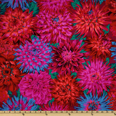Kaffe Fassett Collective 2012 Cactus Dahlias Red