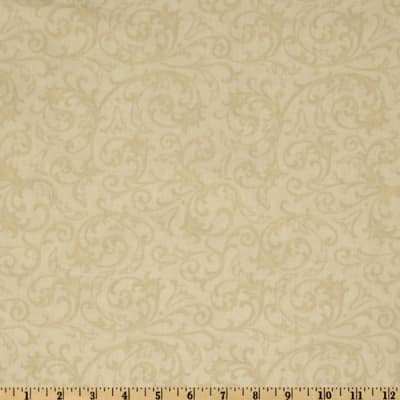"Baroque 108"" Quilt Backing Flourish Cream"