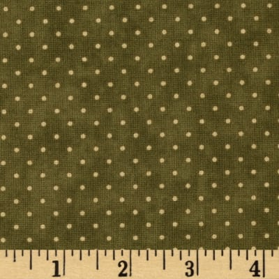 Moda Essential Dots (# 8654-17) Olive