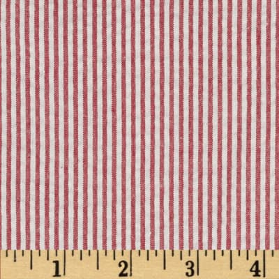 Kaufman Classic Seersucker Stripes Crimson