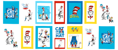 Shannon The Cat In The Hat Minky Cuddle Story Time Panel Multi