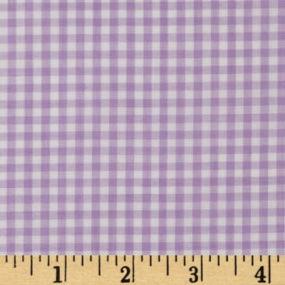 Woven 1/8'' Gingham Lilac
