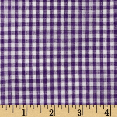 Wide Width 1/8'' Gingham Check Purple