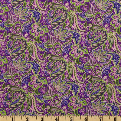 Floral Paisley Purple